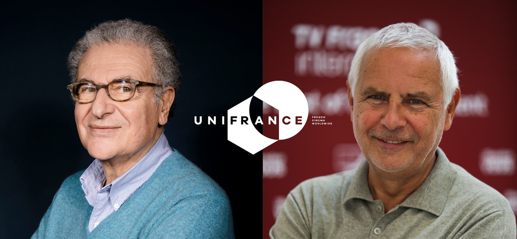 Serge Toubiana et Hervé Michel élus Président et Vice-président d'UniFrance - © Philippe Quaisse/UniFrance - Agence Photomobile