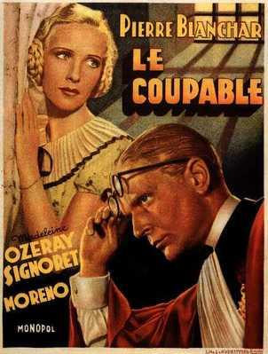 Le Coupable - Poster Belgique