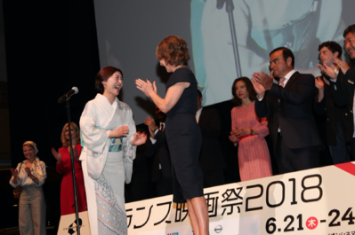 June 21: Opening of the 26th French Film Festival in Japan - Takako Tokiwa et Nathalie Baye - © Laurent Campus
