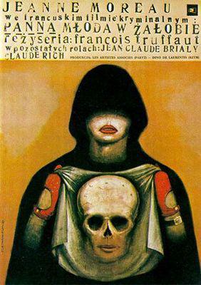 La Novia vestía de negro - Poster Pologne