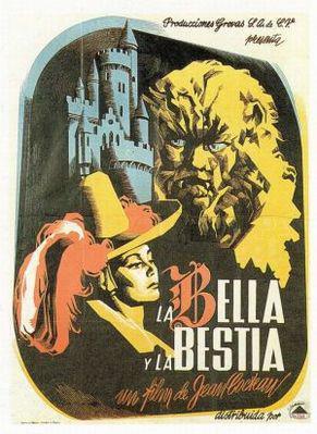 La Belle et la Bête (J. Cocteau) - Affiche Espagne