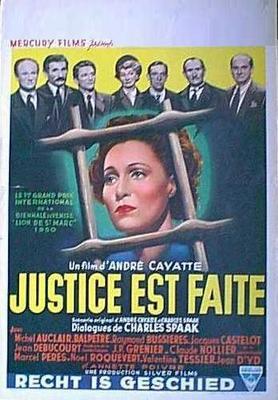 Justice est faite - Poster Belgique