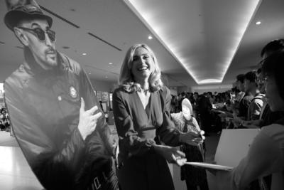 21 de junio: Inauguración del festival - Julie Gayet, avec JR et Agnès Varda - © S. Cauchon/UniFrance