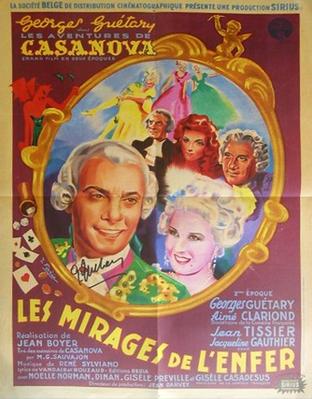 Les Aventures de Casanova - Deuxième époque : Les Mirages de l'enfer - Poster Belgique