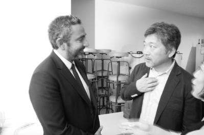 21 juin - Ouverture du 26e Festival du Film Français au Japon - Eric Toledano et Hirokazu Kore-eda - © S. Cauchon/UniFrance