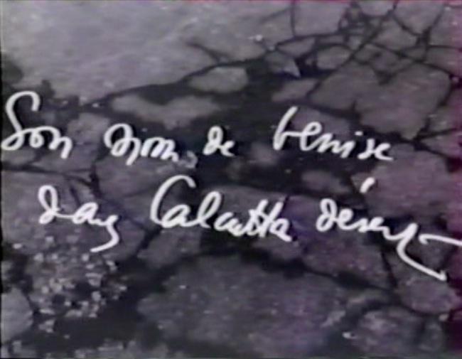 Su nombre de Venecia, en Calcuta desierta