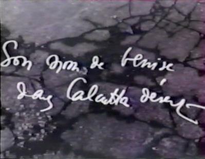 Son nom de Venise dans Calcutta désert