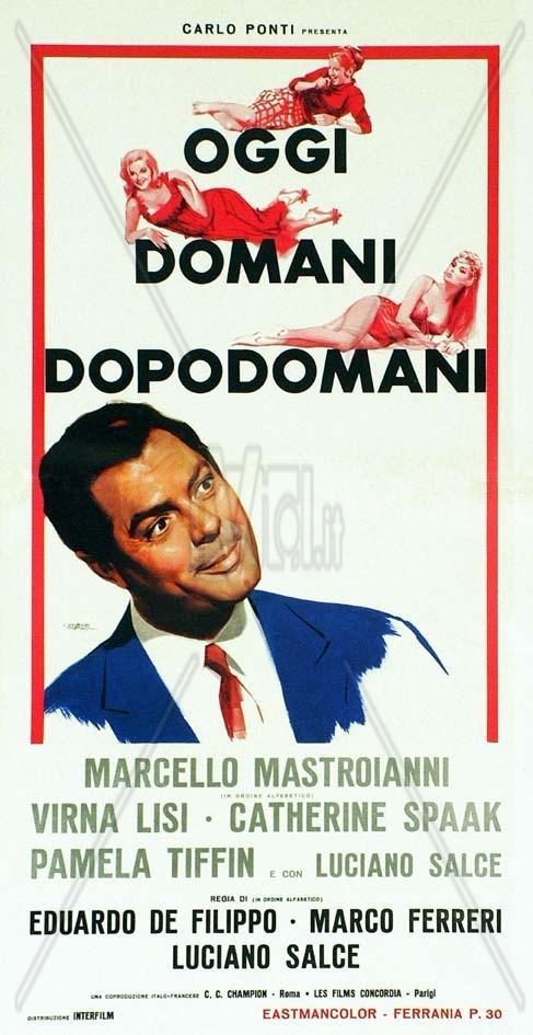 Hoy, mañana, pasado mañana - Poster Italie
