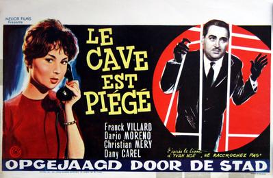 Le Cave est piégé (Chasse à l'homme) - Poster Belgique