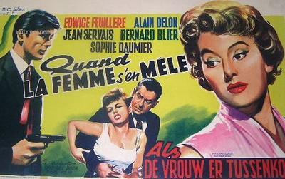 Quand la femme s'en mêle - Poster Belgique