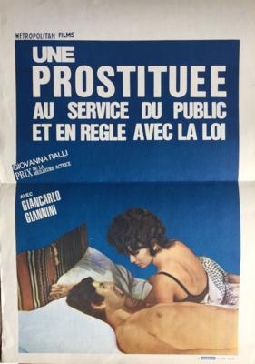 Une prostituée au service du public et en règle avec la loi - Poster - Belgium