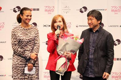 Balance del 24º Festival de Cine Francés del Japón - Isabelle Giordano, Isabelle Huppert & Hirokazu Kore-Eda