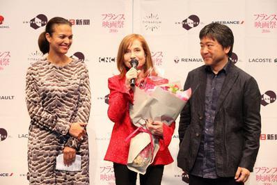 Bilan du 24e Festival du Film Français au Japon - Isabelle Giordano, Isabelle Huppert & Hirokazu Kore-Eda