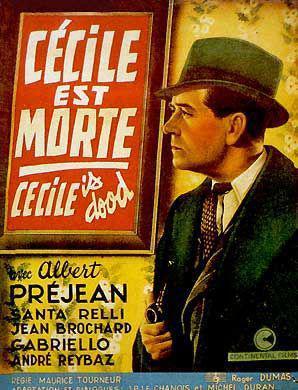 Cécile est morte - Poster Belgique