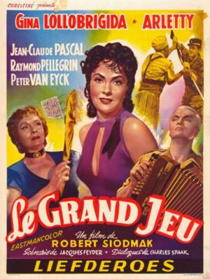 Le Grand Jeu - Poster Belgique