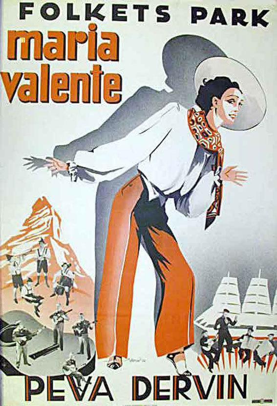 Maria Valente - Poster Suède
