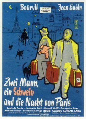 La Travesía de París - Poster Allemagne