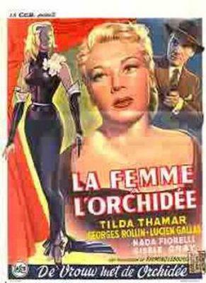 La Femme à l'orchidée - Poster Belgique