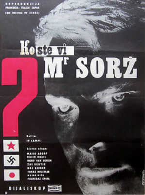 Who Are You Mr Sorge ? / Soviet Spy - Poster - Yougoslavia