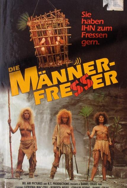 Man Eaters - Jaquette VHS Allemagne