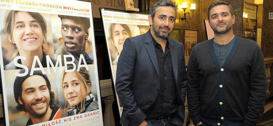 Samba directors in Poland for the release of their film