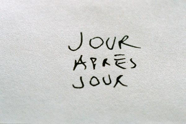 Jour apres jour / 仮題:来る日も来る日も