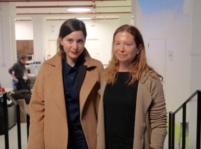 Portfolio - Masterclass Rebecca Zlotowski (ici avec la réalisatrice et modératrice Laurie Weitz), New York Media Center