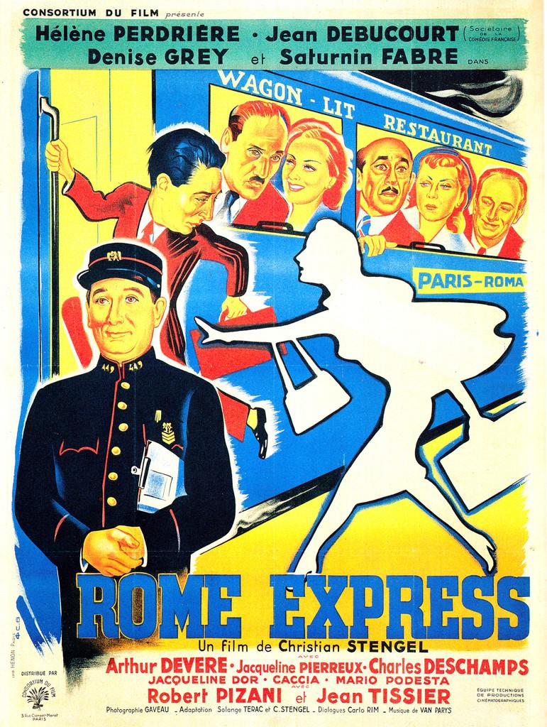 Rome Express (1950) French poster