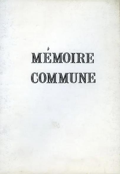 Mémoire commune