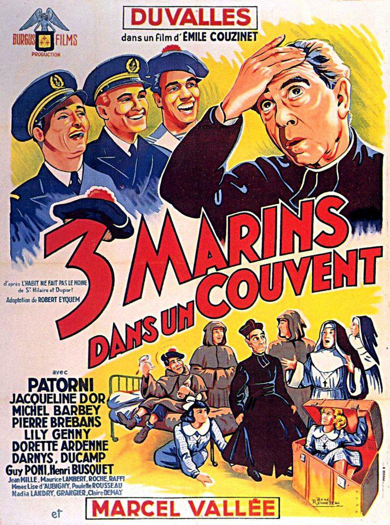 Trois marins dans un couvent