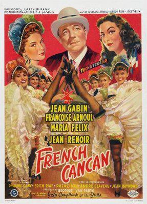 フレンチ・カンカン - Poster Belgique