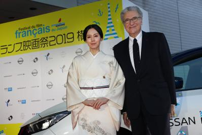 June 20: Opening of the 27th French Film Festival in Japan - Miki Nakatani et Serge Toubiana - © Laurent Campus