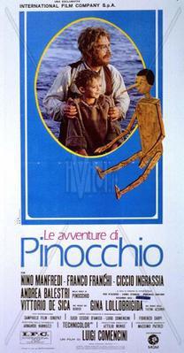 Les Aventures de Pinocchio - Poster Italie