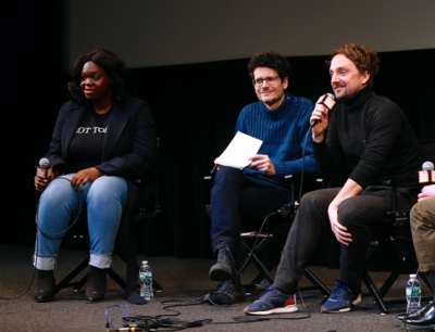 Bilan de la 24e édition des Rendez Vous with French Cinema in New York - Deborah Lukumuena et Louis-Julien Petit au Q&A des - © Bestimage