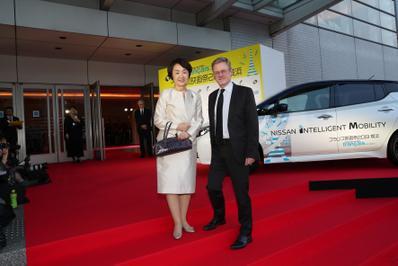 June 20: Opening of the 27th French Film Festival in Japan - Fumiko Hayashi, maire de Yokohama, et Laurent Pic, ambassadeur de France au Japon - © Laurent Campus