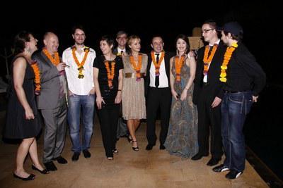 Segundos  Rendez-vous con el Cine Francés en la India - Une partie de la délégation - © Unifrance.org