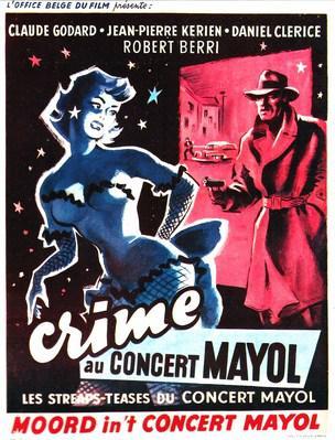 Crime au Concert-Mayol - Poster Belgique