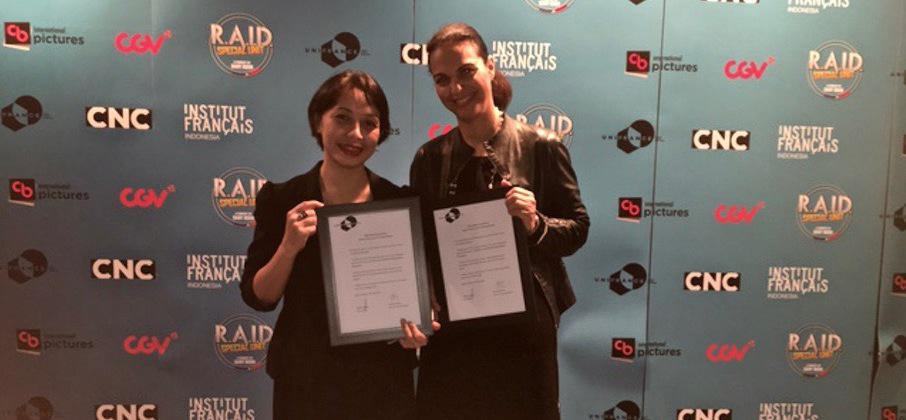 UniFrance signs a draft agreement with three key exhibitors and distributors in Indonesia