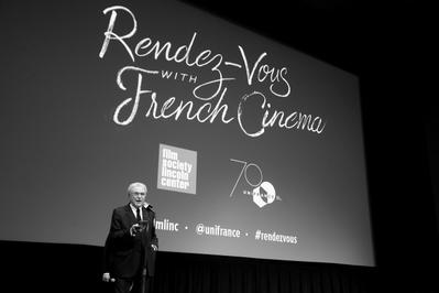 A very fine 24th edition of the Rendez Vous with French Cinema in New York - Serge Toubiana présente une séance scolaire - © Bestimage