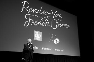 Bilan de la 24e édition des Rendez Vous with French Cinema in New York - Serge Toubiana présente une séance scolaire - © Bestimage