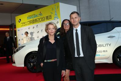 20 de junio – Inauguración del 27° Festival de Cine Francés de Japón - Frédérique Bredin, Françoise Pams et Mathieu Fournet du CNC - © Laurent Campus