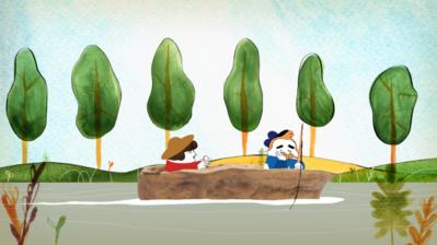 Dans un petit bateau