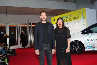 June 20: Opening of the 27th French Film Festival in Japan - Sébastien Marnier et sa productrice Caroline Bonmarchand - © Laurent Campus