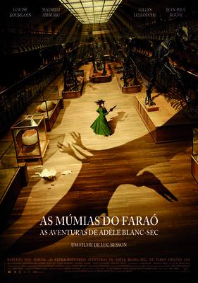 Les Aventures extraordinaires d'Adèle Blanc-Sec - Affiche Portugal