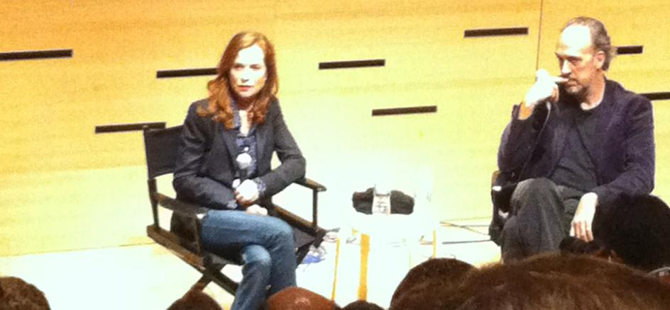 Isabelle Huppert at the New York Film Festival