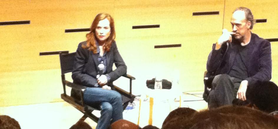 Isabelle Huppert en el Festival de Nueva York