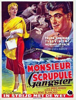 Monsieur Scrupule, gangster - Poster Belgique