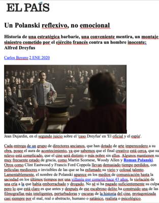 Revista de prensa – Enero del 2020