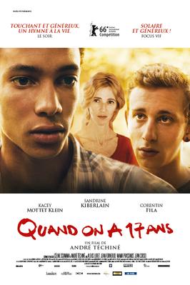Quand on a 17 ans - Poster Belgique