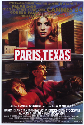 Paris, Texas - Poster Belgique